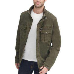 Levis Mens Sz L  Army Green Utility Field Jacket